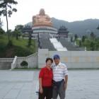 Shih Yen Yeh & Chung Yueh Chen at Maitreya Bodhisattva statue site in Zhejiang Province, China.