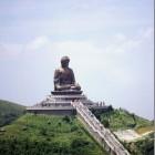 Big Buddha of Tiantan (Shakyamuni Buddha) (86ft) Lantau Island, Hong Kong.