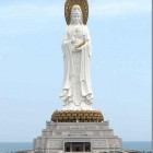 Avalokiteshvara Bodhisattva (Kuan Yin) statue (354ft) Hainan Province, China.