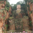 Big Buddha of Leshan (Maitreya Buddha) (232ft) Sichuan Province, China.