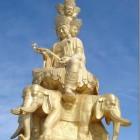Samantabhadra Bodhisattva statue (157ft) Sichuan Province, China.