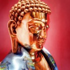 The 3ft Buddha Shakyamuni statue that was gifted to Erik Yeh from H.E. Tsem Rinpoche.
