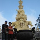 Shih Yen Yeh & Chung Yueh Chen at Samantabhadra Bodhisattva statue site in Sichuan Province, China.
