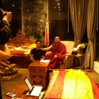 Erik Yeh, at an audience with H.E. Tsem Rinpoche in Kechara Forest Retreat.